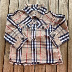 Shirt button down Burberry 3 / 6 months mixte